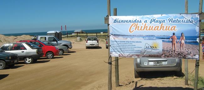 Playa Chihuahua - Playas nudistas de Uruguay