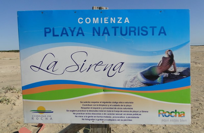 Playa La Sirena en Rocha - Playa nudista