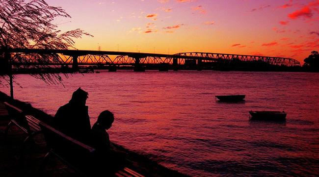 Río Santa Lucía en Uruguay